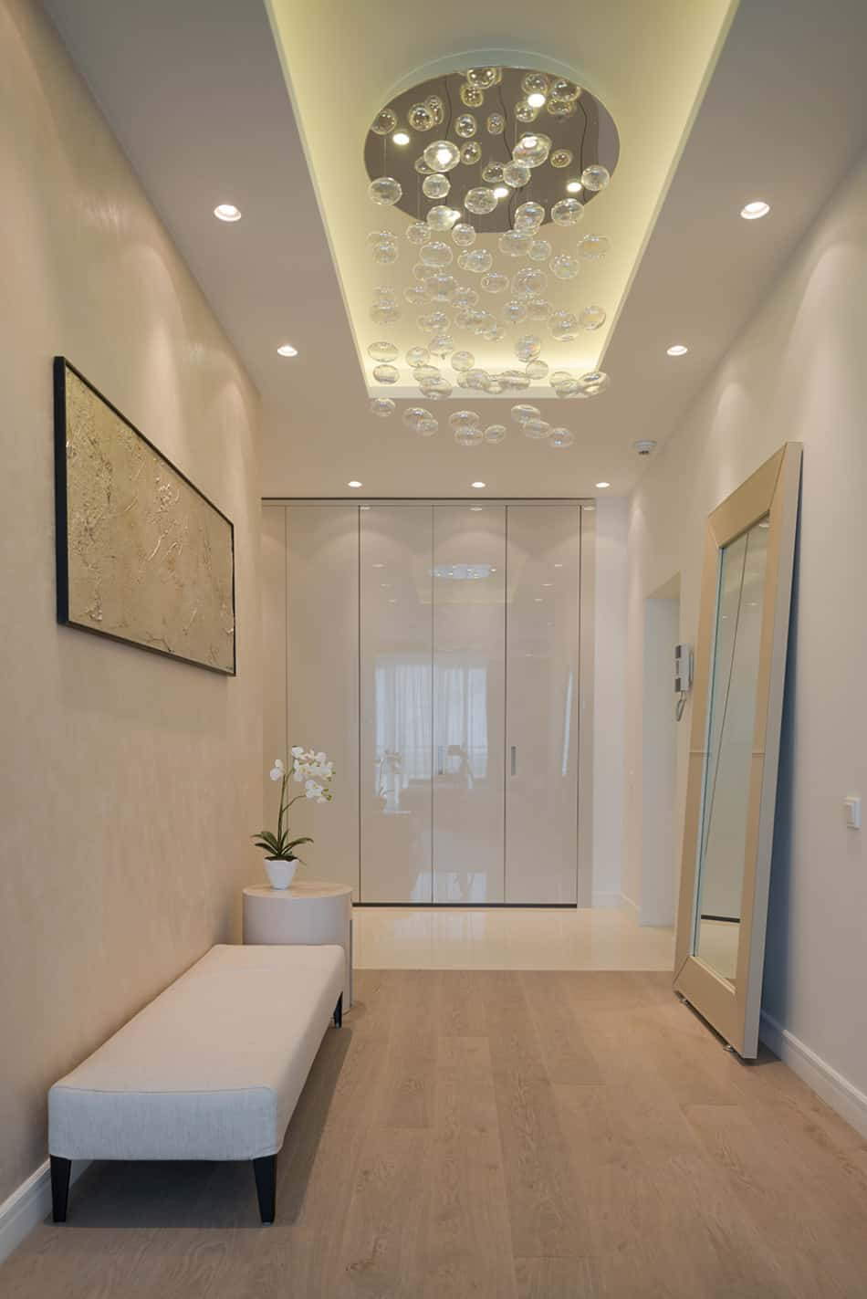 Lighting For Entrance Foyers. lucite console add a contemporary ...