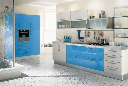 blue modern kitchen design ideas