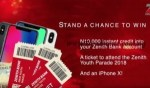Zenith Bank Youth Parade 2018: Stand A Chance To Win N10,000 Instant Credit And A Ticket