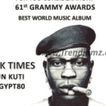 (WATCH): Seun Kuti Talks About Winning Grammy With 'Black Times' Album