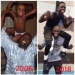 """Gist: Ayo Animashaun Pictured With His Children In Epic """"Before vs Now"""" Collage"""