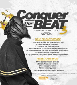 FREEBEAT: Certified PR x Tony Ross – Conquer The Beat 3 (Competition)