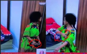 Gist: #BBNaija: See The Moment Tacha Spraying Perfume On Herself After Being Told She Has Body Odour (Video)
