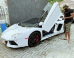 Peter Okoye Shows Off A Sleek Lamborghini Super Car; Could He Be The Owner (Photos)
