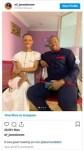 Crossdresser James Brown meets actor Desmond Elliot for the first time