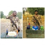 Soldier who celebrated his birthday with bread receives cake from RC Cola (Photos)