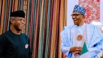 President Buhari celebrates VP Yemi Osinbajo as he turns 64