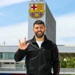Manchester City striker, Sergio Aguero completes move to Barcelona