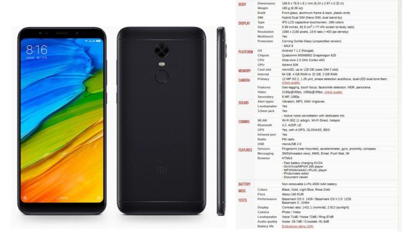 Xiaomi Redmi 5 Plus - specs - Best Bezel less Phones 2018 - TrendMut - Best Smartphones