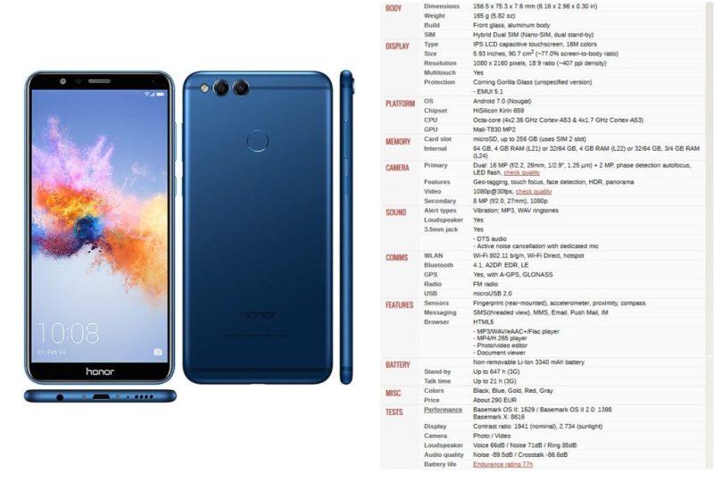 honor 7x - specs - Best Bezel less Phones 2018 - TrendMut - Best Smartphones