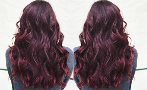 Burgundy Hair - best hair color trends for 2018