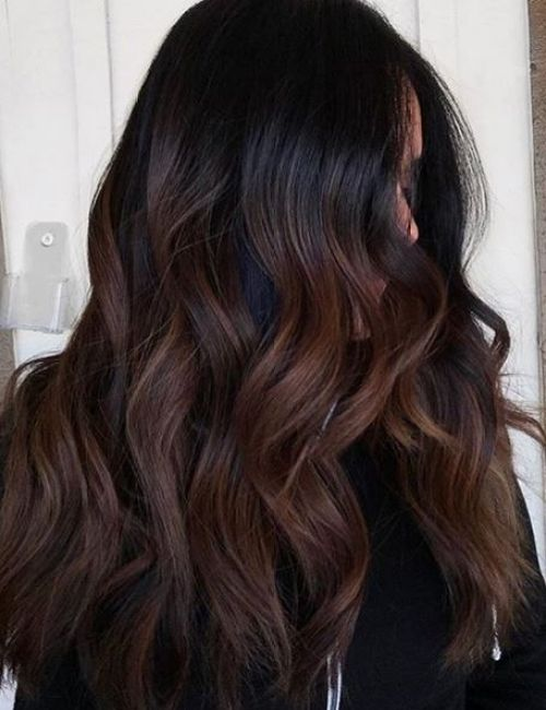 dark chocolate hair - best hair color trends for 2018