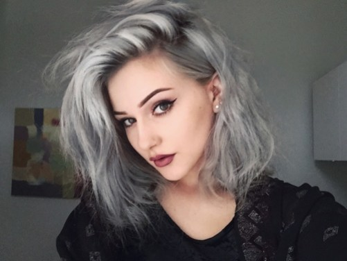 salt and pepper hair - best hair color trends for 2018