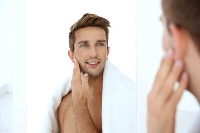 men skincare routine