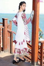 1574-FLORA-WHITE EMBROIDERED LAWN UNSTITCHED 5,790