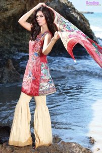 1583-RED-VELVET EMBROIDERED LAWN UNSTITCHED 5,790