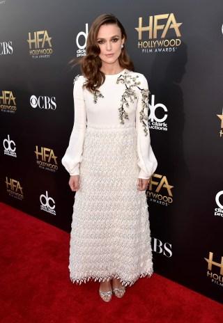 Keira Knightley Wearing Giambattista Valli at 2014 Hollywood Film Awards