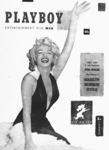 Marilyn Monroe on the first cover of Playboy in December 1953