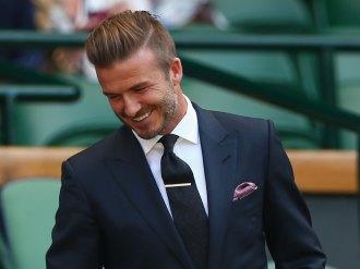 David Beckham at a Wimbledon match