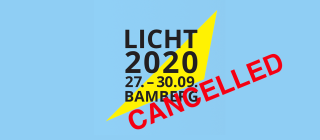 "24th European Light Congress ""LIGHT2020"" Cancelled"