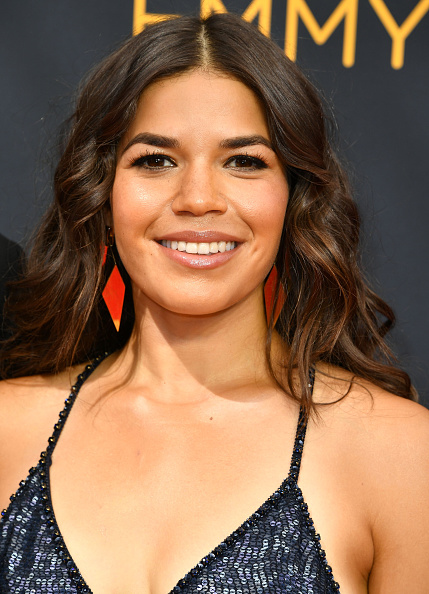 LOS ANGELES, CA - SEPTEMBER 18:  America Ferrera arrives at the 68th Annual Primetime Emmy Awards at Microsoft Theater on September 18, 2016 in Los Angeles, California.  (Photo by Steve Granitz/WireImage)