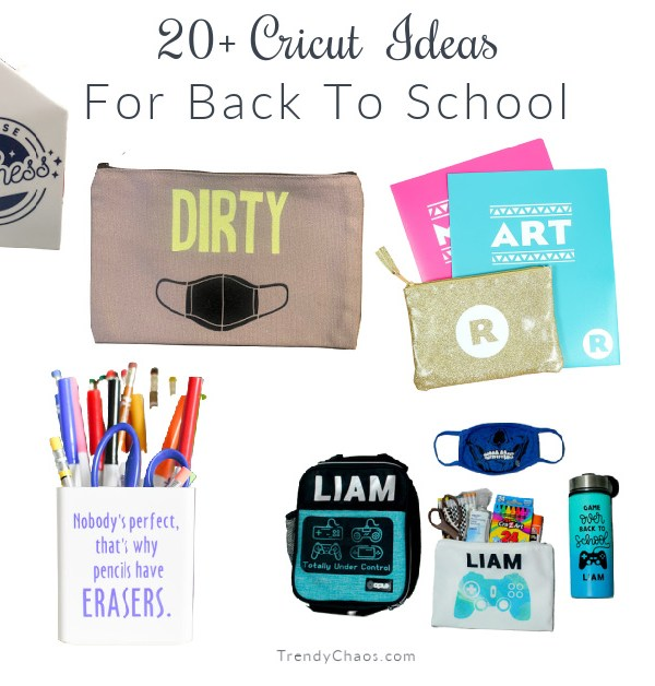 20+ Ideas to Personalize Back to School with Cricut