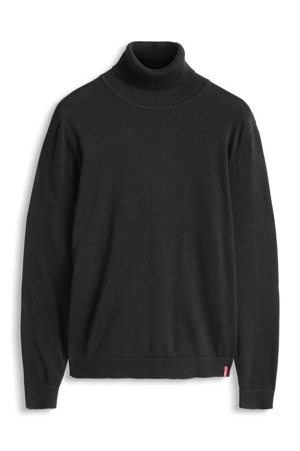 esprit shop on line idea regalo uomo maglione nero
