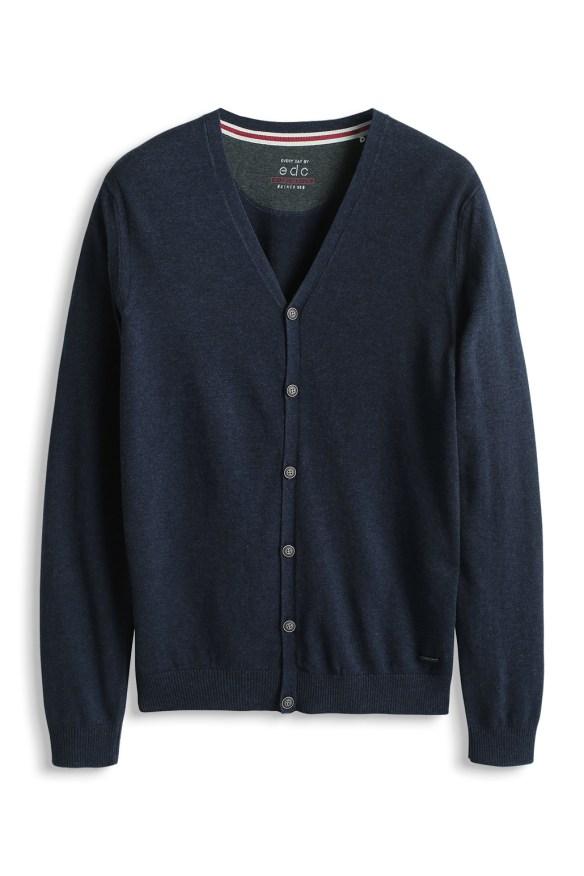 c esprit shop on line idea regalo uomo cardigan blu