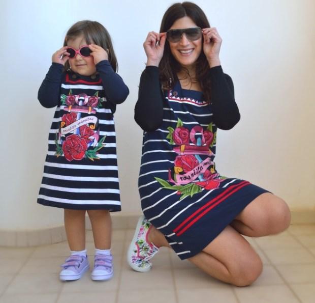 outfit uguale mamma e figlia