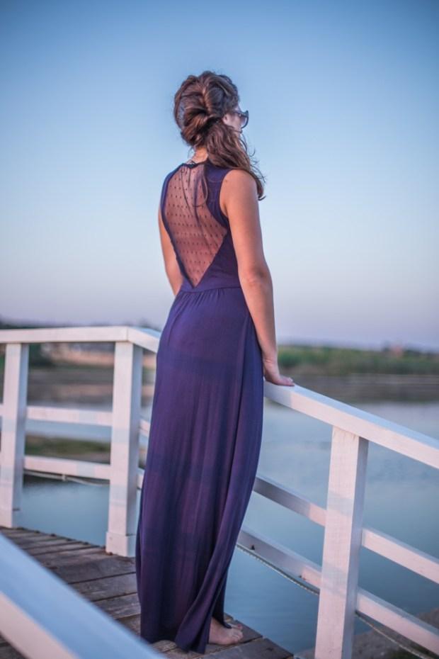 abito blu lungo