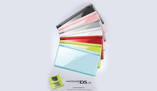 colorful nintendo ds