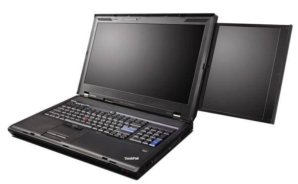 Lenovo laptop  dual LCD screens
