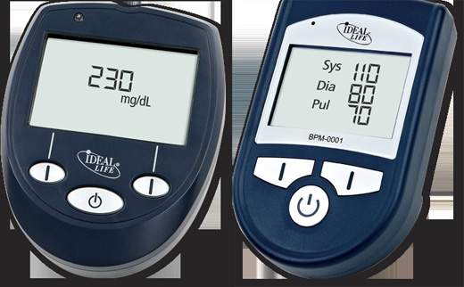 IDEAL LIFE Gluco Manager and IDEAL LIFE Blood Pressure Manager