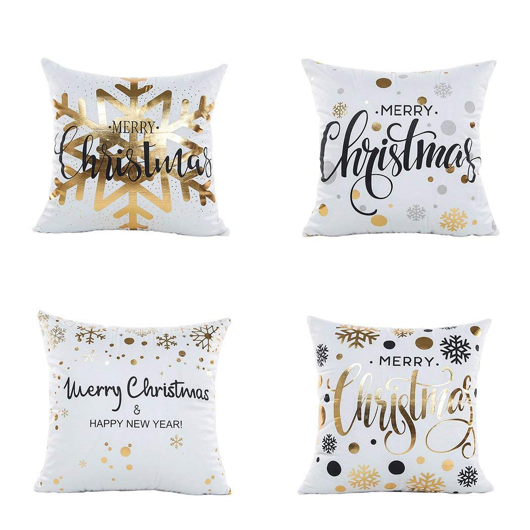 Christmas and New Year Decorative Throw Pillow Covers & Blankets