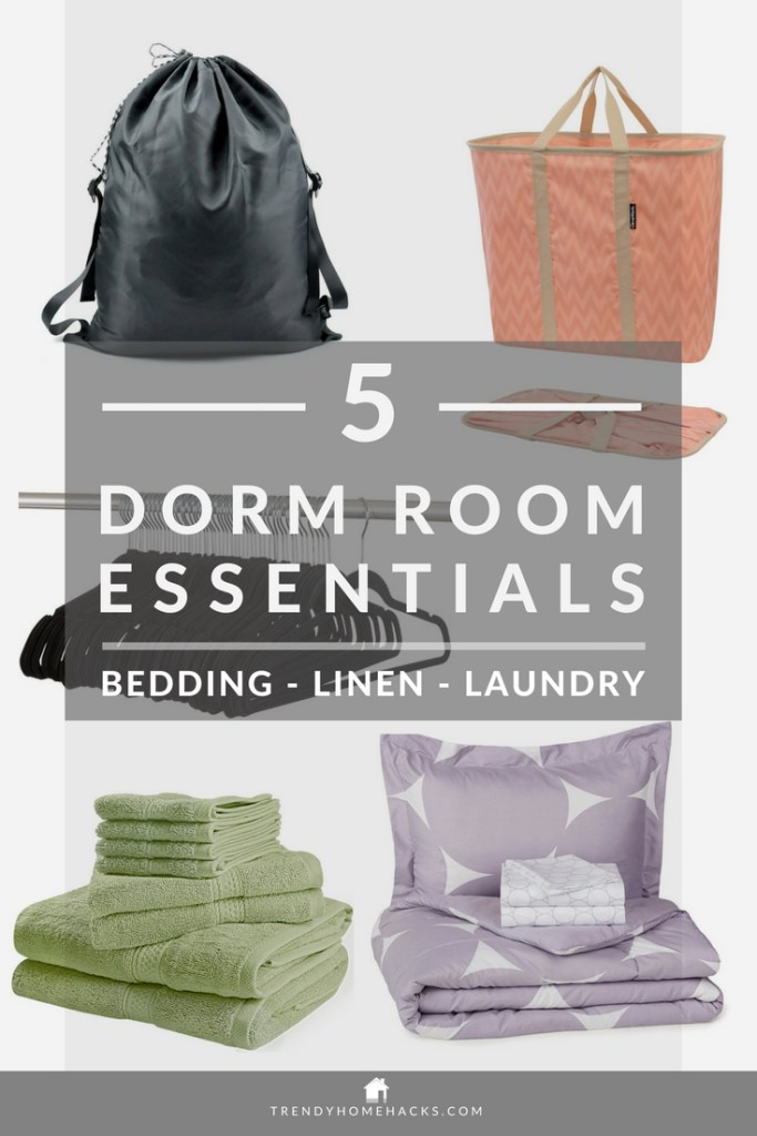 best-dorm-room-bedding-linen-laundry-essentials