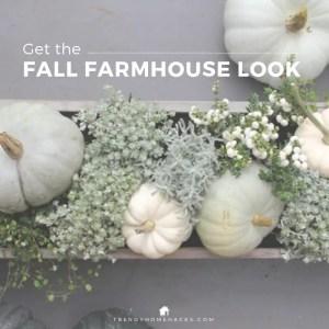 Fall Farmhouse Chic Interior Décor