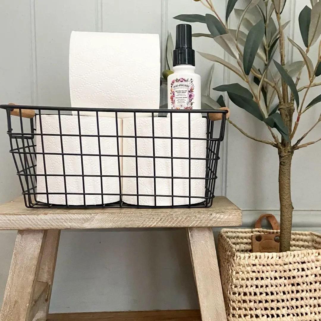 toilet-paper-in-wire-basket