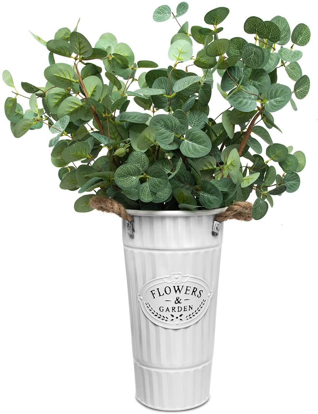 Farmhouse-Flower-Bucket-Vase-with-Handles