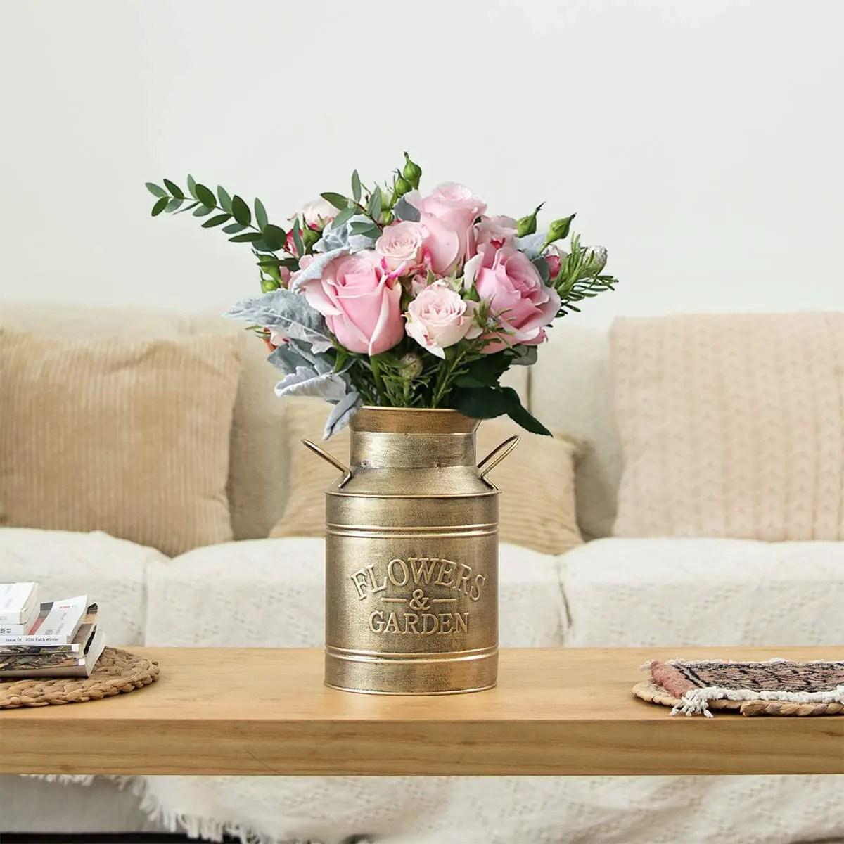 Gold-Metal-Flower-Farmhouse-Vase