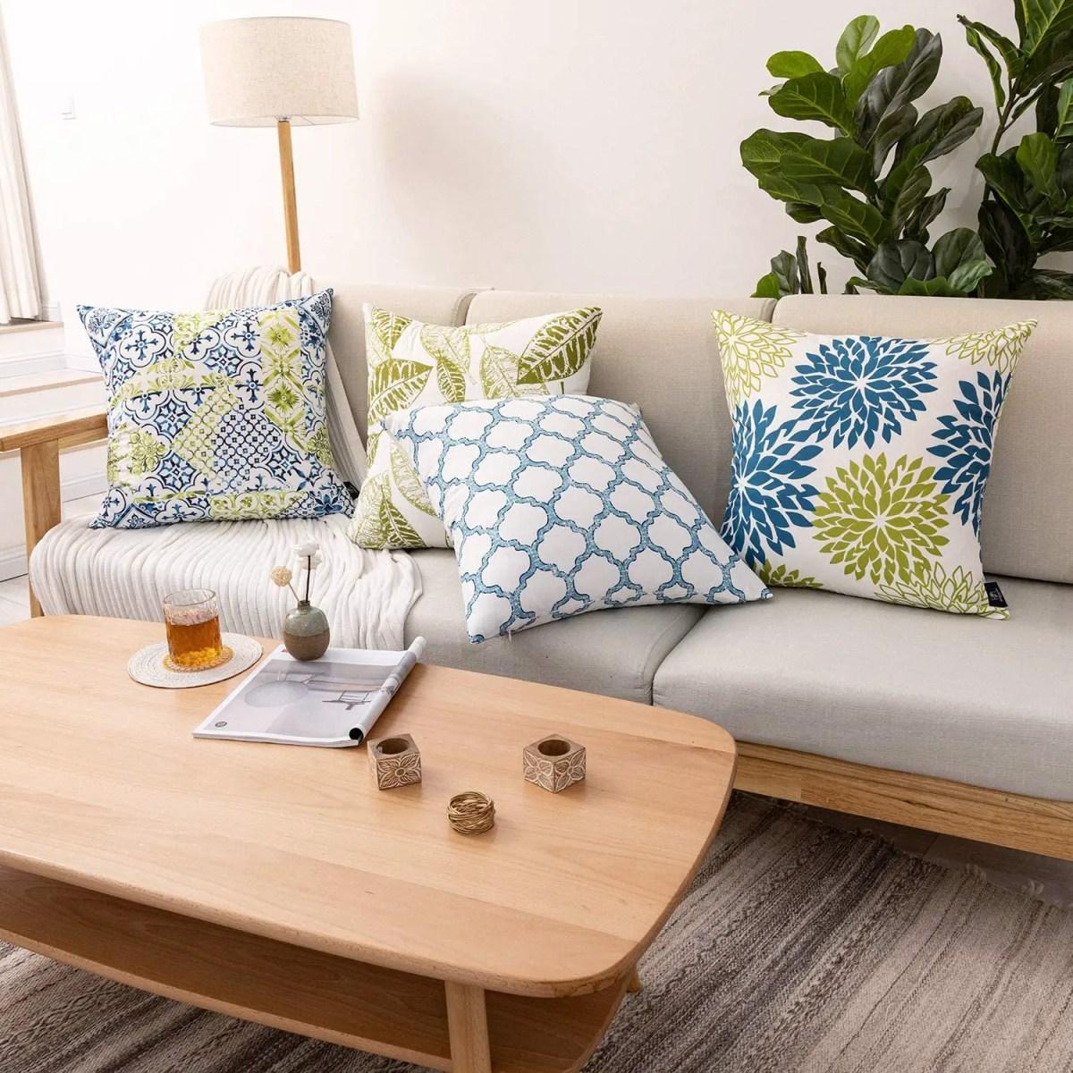 Blue&Green-Decorative-Pillowcase