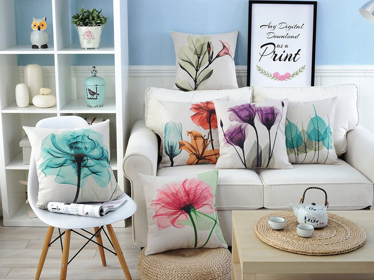 Floral-Decorative-Pillow-Covers
