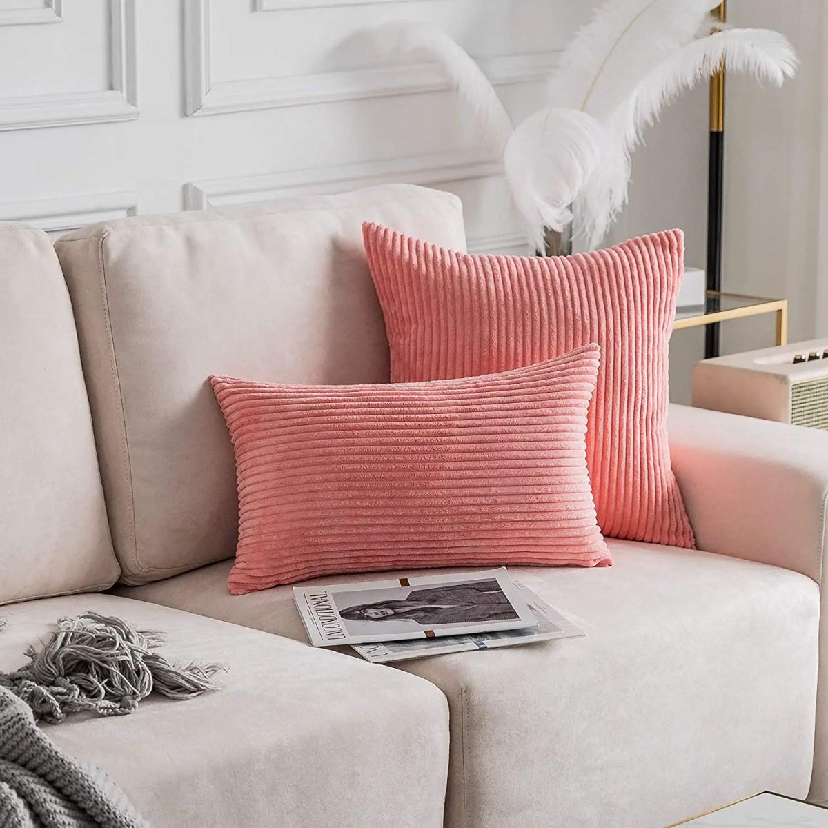 Striped-Velvet-Corduroy-Pillowcases