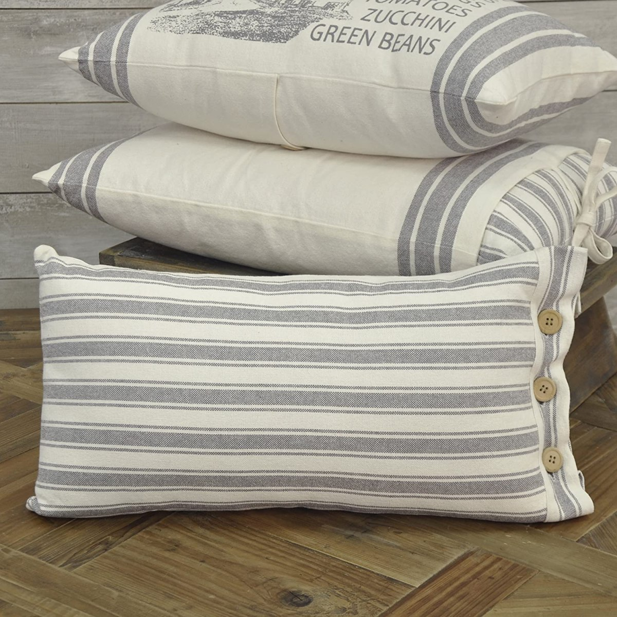 Ticking-Stripe-Farmhouse-Decor-Pillowcase