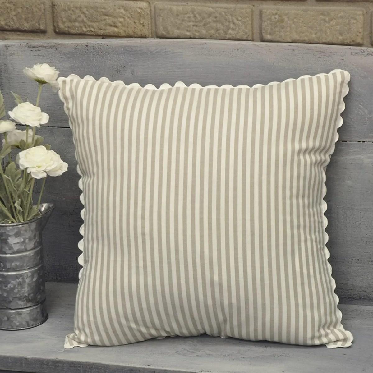 Ticking-Stripe-Taupe-Pillowcase