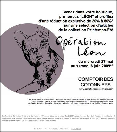 Opération Léon - Comptoir des Cotonniers