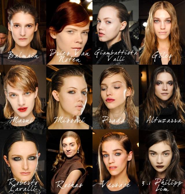 Coiffures Fashion Week Fall 2013