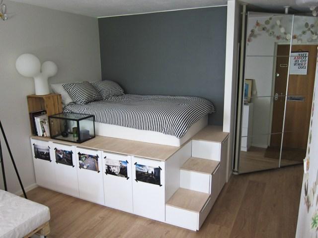 DIY Storage platform bed