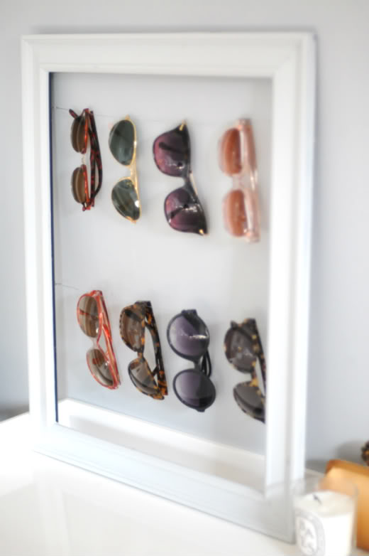 DIY sunglasses organization