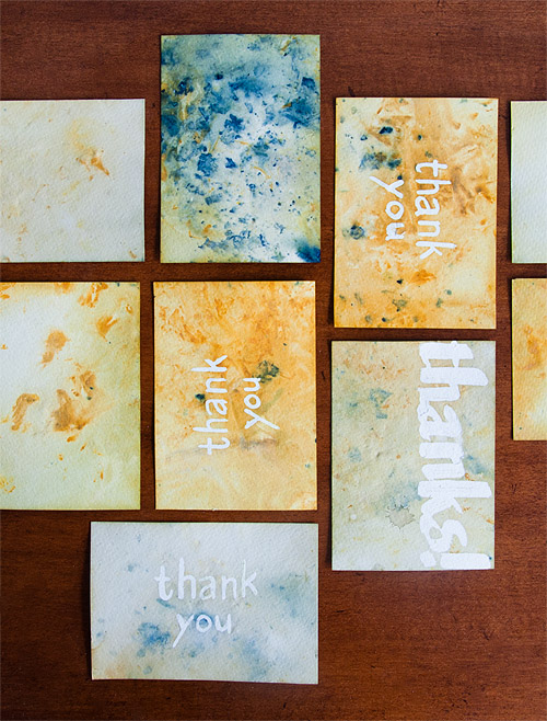 DIY thanks cards