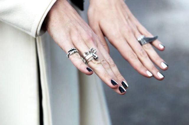 nail bicolore